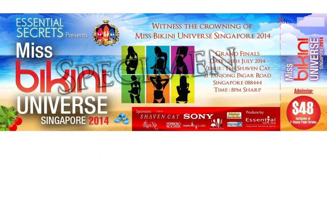 Miss Bikini Universe Singapore 2041 Ticket